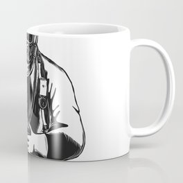 EMT Wearing Hazmat Suit Scratchboard Coffee Mug