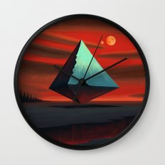 Moon Pyramid Wall Clock