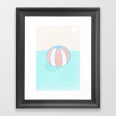 Floating ball Framed Art Print