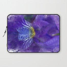 Purple Iris Watercolor Laptop Sleeve