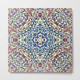 1,000 Origami Crane Kaleidoscope  Metal Print