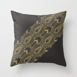 Art Deco Geometric Glam Throw Pillow