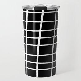 Hand Grid Large Black Travel Mug