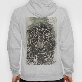 leopard black and white Hoody