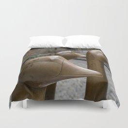 Geese of Sarlat Duvet Cover