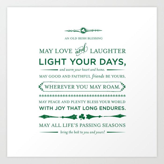 Irish Blessing Art Print By Pattimurphy Society60 Interesting Irish Proverbs About Love