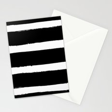 Black & White Paint Stripes by Friztin Stationery Cards