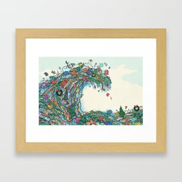 Christmas Tidal Wave Framed Art Print