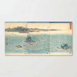 Rapids at Naruto, Hiroshige Canvas Print