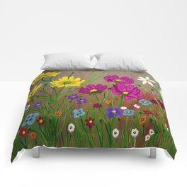 Spring Wild flowers  Comforters