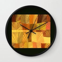 Abstract Golden Nevada Sunshine Wall Clock