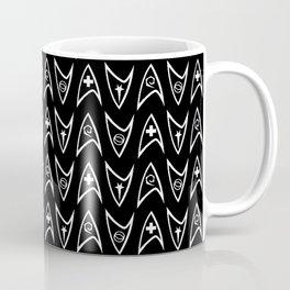Insignia Pin Rows // Black Coffee Mug