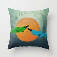 platypus Throw Pillows featuring Platypus Love by Cody Weber