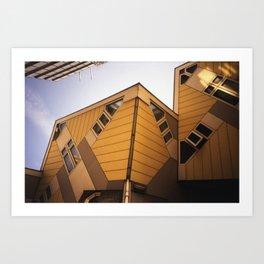 Cube houses Art Print