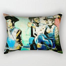 Cowboys and Graffiti Rectangular Pillow