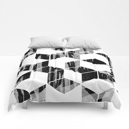 Elegant Black and White Geometric Design Comforters