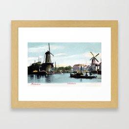 Rotterdam Achterhaven 1890 Framed Art Print
