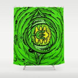 Eye of an Incarnation Green Shower Curtain