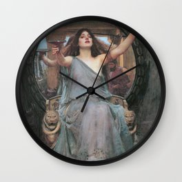 CIRCE OFFERING THE CUP TO ULYSSES - JOHN WILLIAM WATERHOUSE Wall Clock