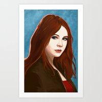 amy pond Art Prints featuring Amy Pond by MODBLOT: Art of Dan Marek
