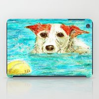 jack russell iPad Cases featuring Jack Russell Terrier by gretzky