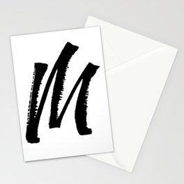 Letter M Ink Monogram Stationery Cards