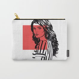 """Fashion illustration, Portrait, from """"Inner world"""" series, #007 Carry-All Pouch"""