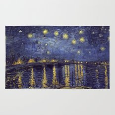 Vincent Van Gogh Starry Night Over The Rhone Rug