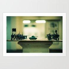 Chess Board Experiment Art Print