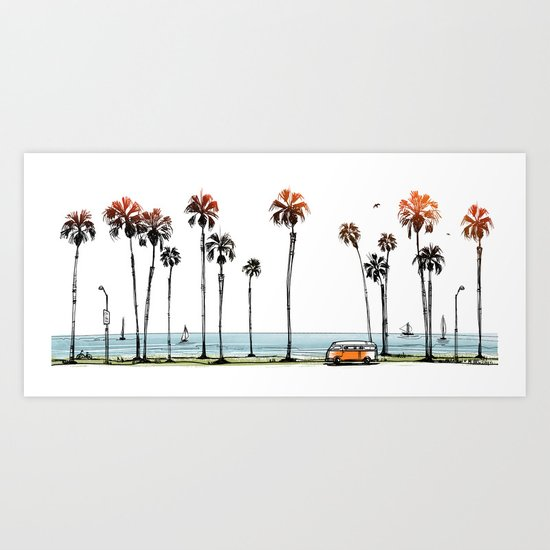 LA love  Art Print