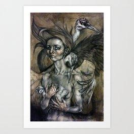 Siege of Cranes Art Print