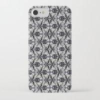 damask iPhone & iPod Cases featuring Black Damask  by Elena Indolfi