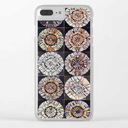 Tree Ring Mandala Clear iPhone Case
