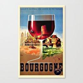 Gorgeous Vintage French Travel Art Advertising Canvas Print