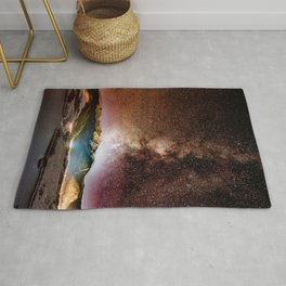Milky Way Grainy Detail // Amazing Shot of the Galaxy in Colorado Long Exposure Star Gazing Photo Rug