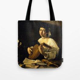 """Michelangelo Merisi da Caravaggio """"The Lute Player"""" Tote Bag"""
