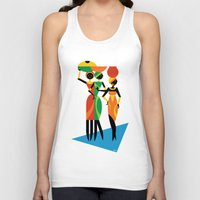 african Tank Tops featuring African Women by Szoki