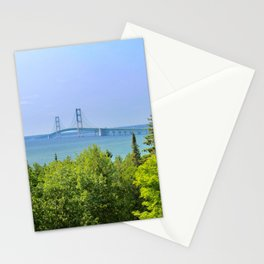 Straits of Mackinac (Mackinac Bridge) Stationery Cards