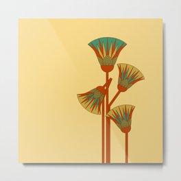 Ancient Egyptian lotus - Colorful Metal Print