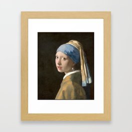 Girl with a Pearl Earring (1665), Old Masters Collection Framed Art Print