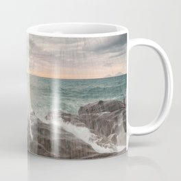 Crashing waves at sunset Coffee Mug