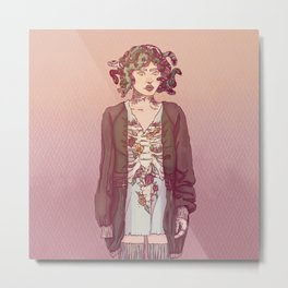 Gorgo Lady Metal Print