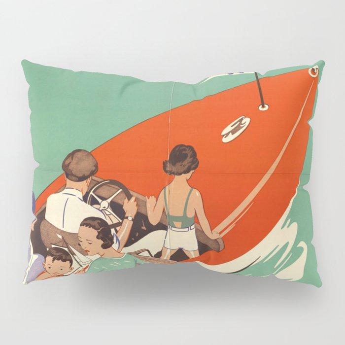 Lake Winnipesaukee - Vintage Poster Pillow Sham