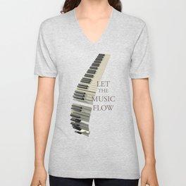 Let the music flow Unisex V-Neck