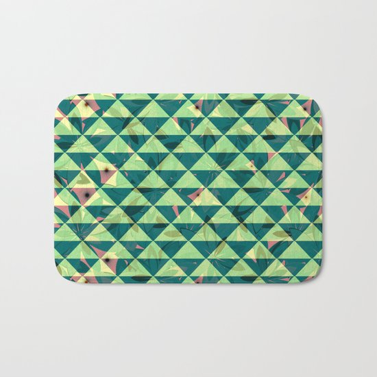 Vegetation-triangles Bath Mat