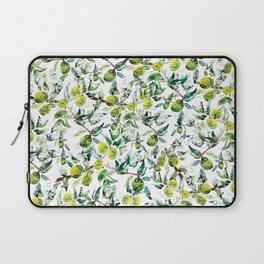 Lime Tree Branch Pattern Watercolor Laptop Sleeve