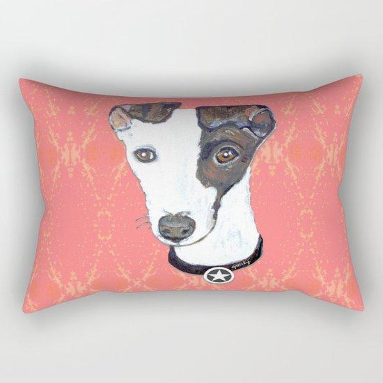 Greyhound Portrait Rectangular Pillow