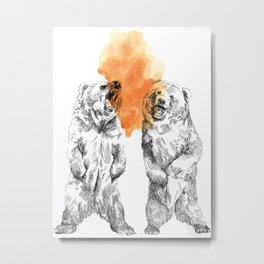 Bear Brain Metal Print