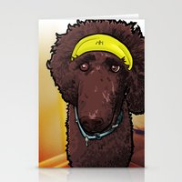 calvin and hobbes Stationery Cards featuring Hobbes (poodle) by BinaryGod.com