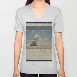 Alexander von Humboldt - Section View of Plants on the Chimborazo and Cotopaxi Volcanoes (1807) Unisex V-Neck